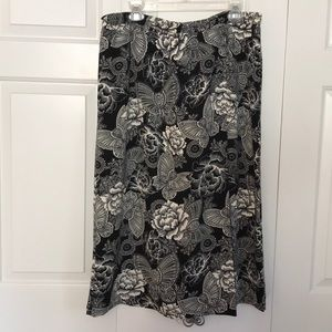 Linea Faux Wrap Printed Midi Skirt